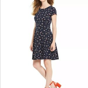 NWT Draper James Navy Floral A-Line Dress Size S